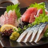 """北海道""""根室""""より直送の新鮮な魚を多数ご用意しております"""