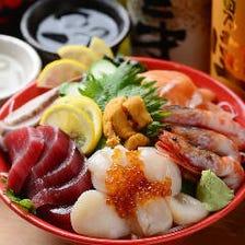 おすすめ!名物!漁々盛り 「オモイダマの魚は最強!まるで海の宝石箱や!」