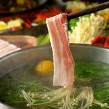 【当店一番人気】厳選国産豚 柚子炊きしゃぶしゃぶ