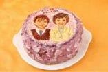 あなただけのオリジナル<似顔絵ケーキ>5号(15cm)6000円~