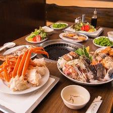 【2時間飲み放題付】海鮮具だくさんカニ入りちゃんこ鍋 食べ放題コース 宴会・飲み会