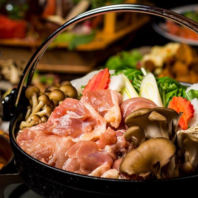 オリジナルの絶品地鶏鍋は必食!宴会コースでご堪能下さい