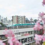 新幹線が見える席はお子様に大人気。