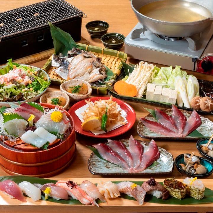 富山の旬魚介をご堪能いただけるコースがずらりと揃います