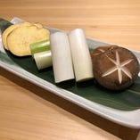 富山県産の焼き野菜