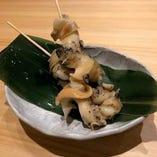 ばい貝の串焼き