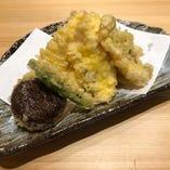 朝獲れ鮮魚の天ぷら
