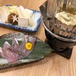 朝獲れ鮮魚の銀盤魚しゃぶ