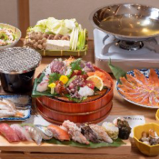 【2時間飲み放題付】後味さっぱりの出汁を使って贅沢な味を楽しむ『海鮮しゃぶしゃぶコース』[全10品]