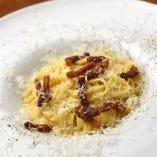 2種類チーズの濃厚カルボナーラ