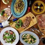 気軽に宴会!サルーテコース(飲み放題付)◆全8品 メイン国産豚ロース