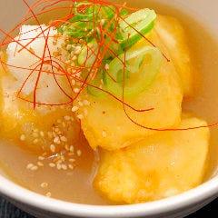 知覧どり鶏ガラ白湯スープ 揚げ出し豆腐