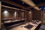個室席はふすまを外して最大40名様までの宴会ができます。