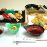 おすし・天ぷら定食(達磨B)