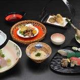 秋の特別料理 七品コース
