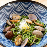淡路島わかめ麺のボンゴレ和パスタ