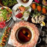 滋養野菜と上質な三河もち豚を、コラーゲン入りの特製のお出汁で