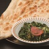 12、ほうれん草チキンカレーセット -Spinach Chicken Curry Set-