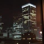 夜景席からは東京駅舎が眺望できます!