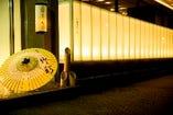 博多竹彩の入り口。蝶和ビルの1階にあります。