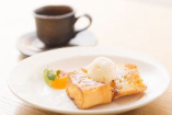 【フレンチトースト】鉄板焼きランチのデザート。単品でもご注文いただけます。
