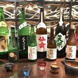 季節に合わせて日本酒のラインナップを変更しております。