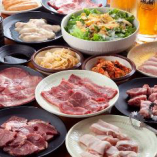 焼肉食べ放題 七輪焼肉 安安『デラックスコース』3500円(税込)◆歓送迎会、ご宴会◆