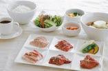 焼肉五種盛り定食