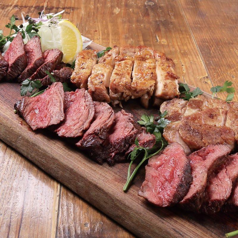 満足度No.1 八百八の肉5種盛り