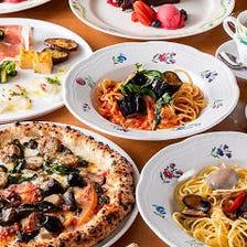 お好きな2種のハーフ&ハーフの窯焼きピッツァが楽しめる★Pizzeria Course~ピッツェリアコース~