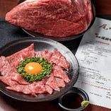 尾崎牛のカルパッチョ〜超レア塩胡椒でタタキ〜