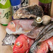 【明石昼網】漁場直送の魚介が揃う