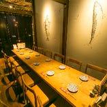 【7~12名様/テーブル席】プライベート感を満喫♪気兼ねなく盛り上がれる半個室