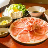 当店オリジナル『そばつゆで食べる蕎麦湯しゃぶしゃぶ』