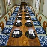 二階の座敷は最大50名様まで入る部屋が二部屋あります