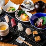 旬の食材を一度に味わえる小江戸コース2,800円(税込)