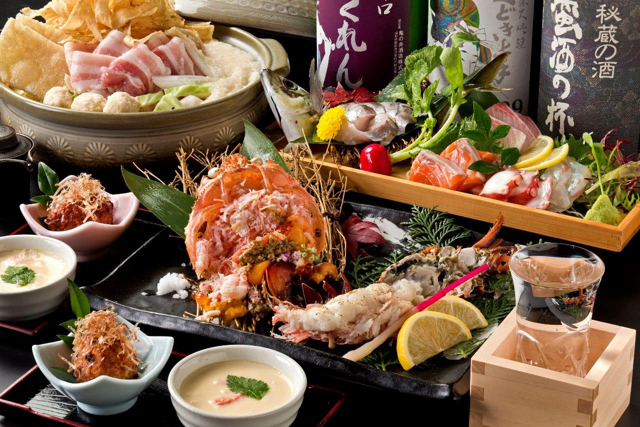 ★旬の味覚が楽しめる人気の鍋コース