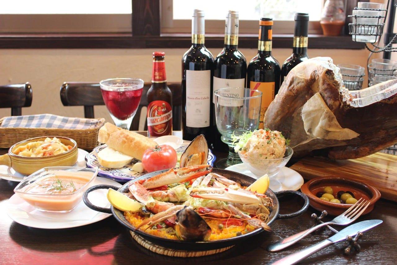 スペインの風を感じるお料理達
