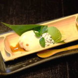 水団子と抹茶アイス