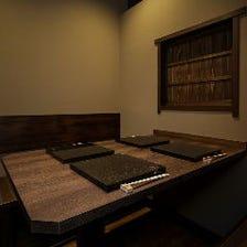 個室で優雅な鉄板料理・お食事を堪能