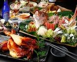 季節毎に変わる宴会コースは 飲み放題付3500円~ご用意!