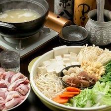 【飲み放題付】『とり心自家製殻スープの特選鍋コース』4,000円/全9品