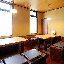 古民家改装の和室で日本料理を堪能