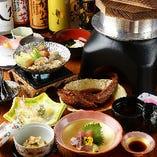 【壱松季節を感じるコース】旬食材を使用した天婦羅や鮮魚の煮魚を味わう〈全8品〉4,500円