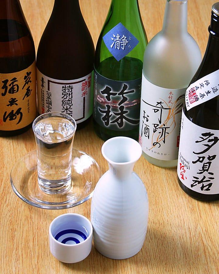 岡山地酒も各種ご用意