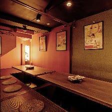 和モダンな寛ぎ空間掘り炬燵完全個室