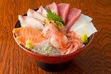 魚河岸丸天丼(あら汁付)