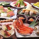 各種宴会に! 鰻と旬の刺身5種盛りの料理長特選コース