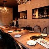 ◇ キャンドルライトの下で【離れ・テーブル個室(最大20名様)※8名様用を2室使用時】 ◇