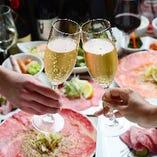 スパークリングや銘柄ワインなど記念日にふさわしい銘柄をご用意